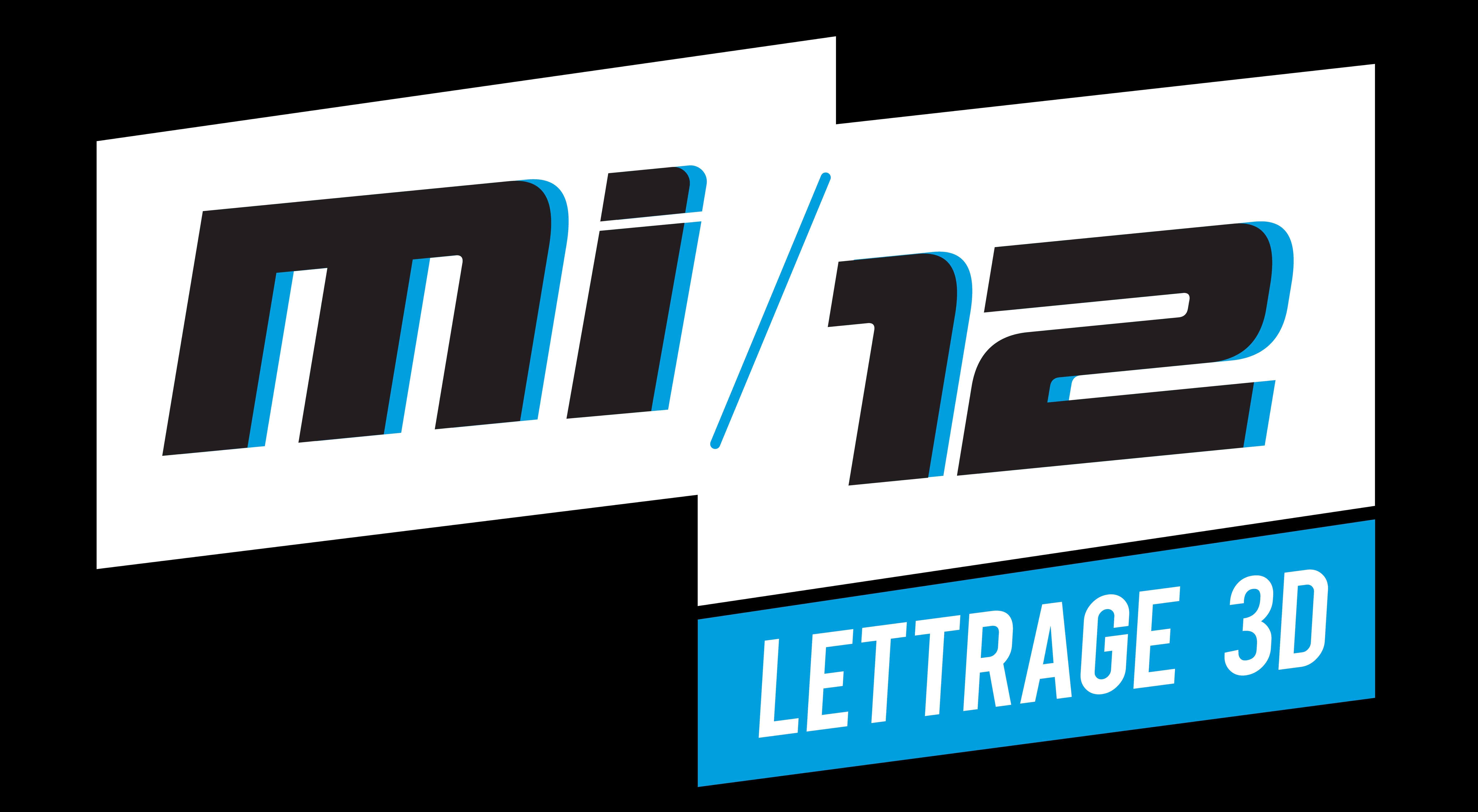 Logo MI-12 lettrage 3D