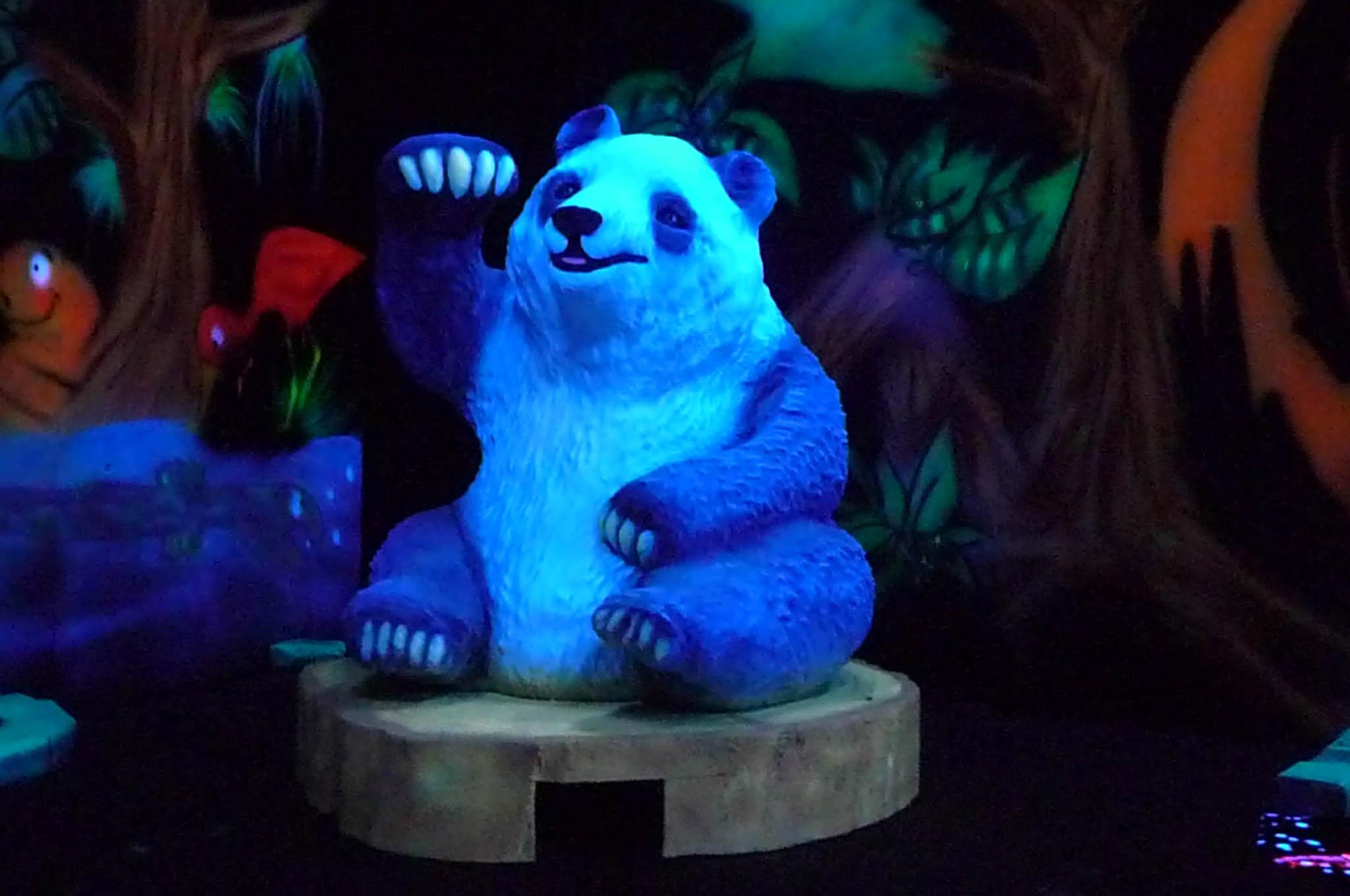 Decors 3D fluos panda