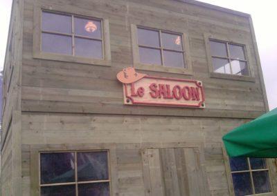 Le Saloon en lettrage 3D