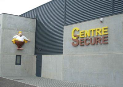 Centre Secure en lettrage 3D