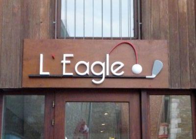 L'eagle en lettrage 3D