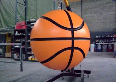 Objet 3D en forme de balon de basquette