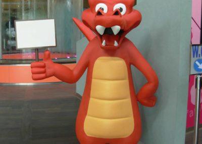Crocodile Rouge en objet 3D