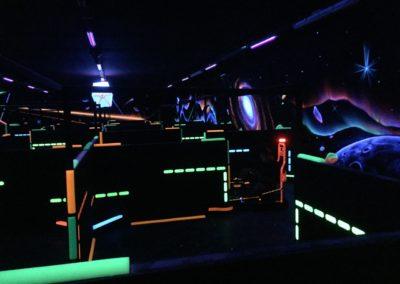 Laser kart avec un décor 2D