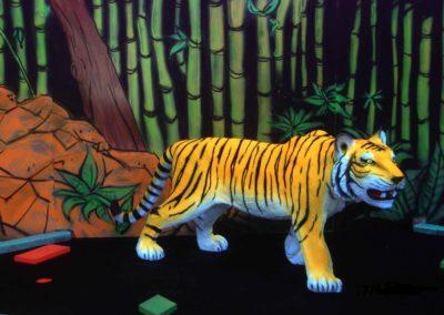Glowyland mini-golf et décor 2D fluo